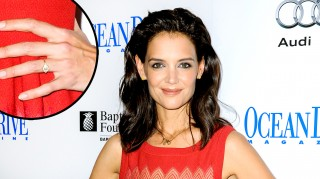 Katie Holmes wearing rumored engagement ring