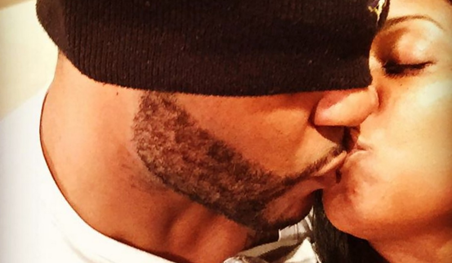 Keshia Knight Pulliam kisses fiance Ed Hartwell