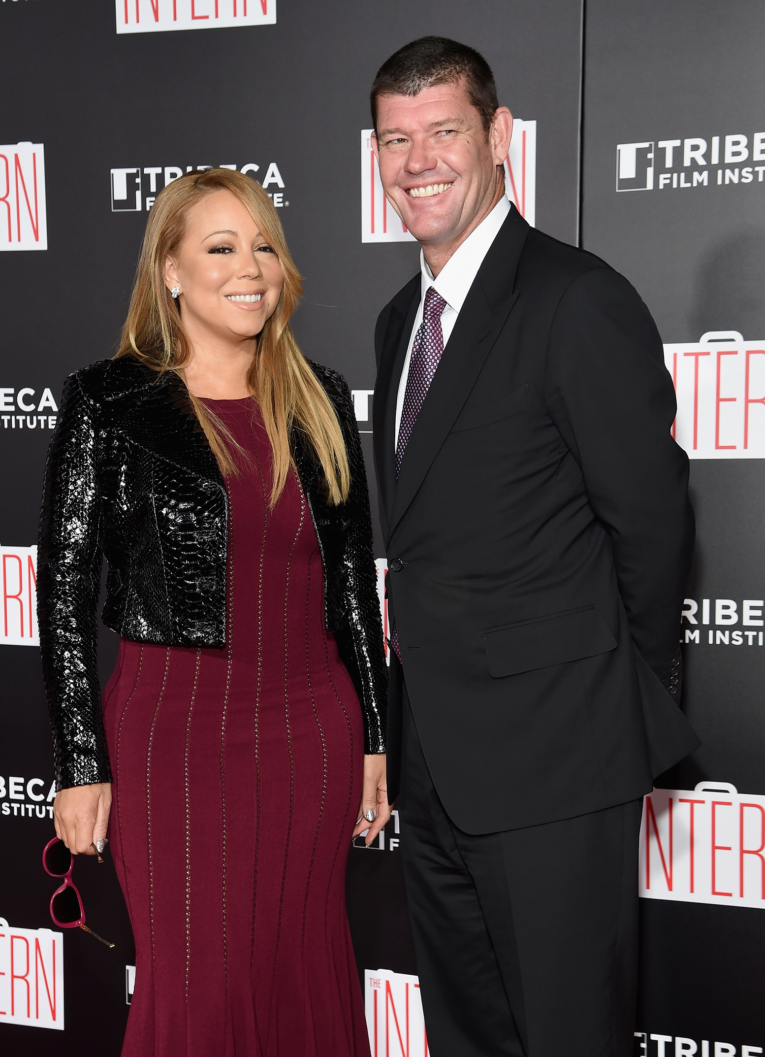 Mariah Carey and fiance James Packer