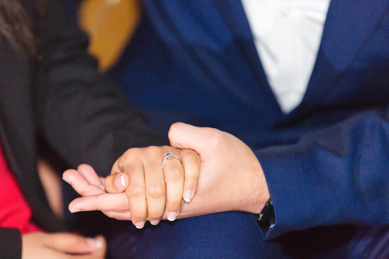 Anisha's engagement ring from Mitesh