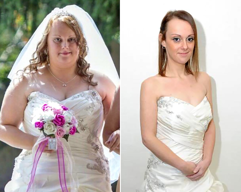 Wedding Weight Lose.Bride Loses 100 Pounds After Wedding Weight Loss Photos