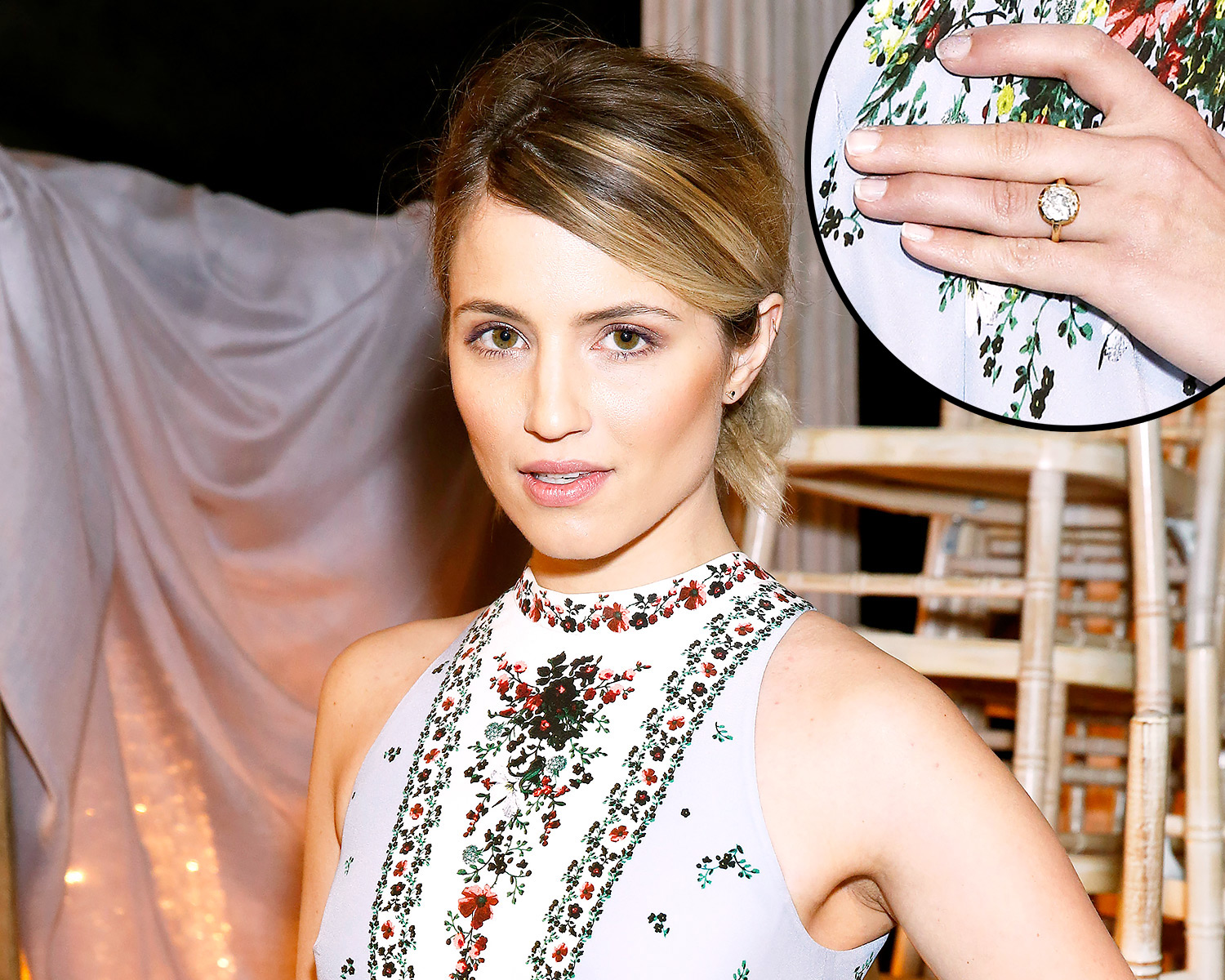Glee's Dianna Agron Flashes Rumored Engagement Ring at London Fashion Week