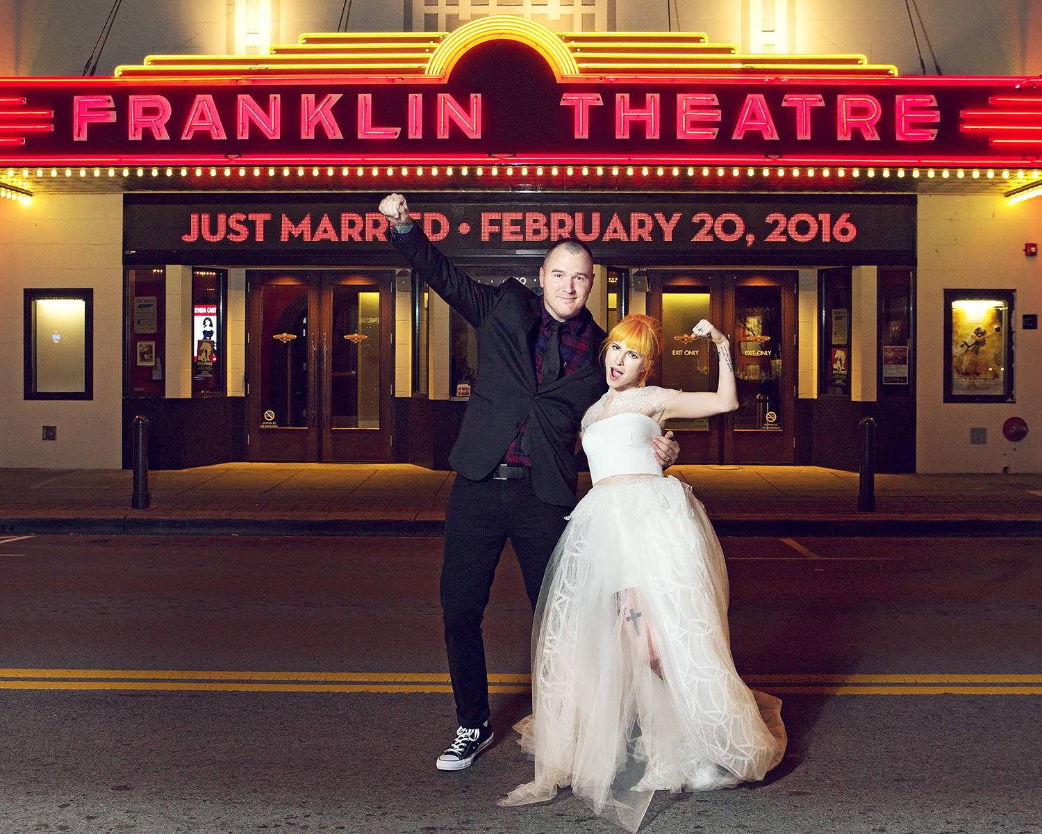 Chad Gilbert and Hayley Williams wedding