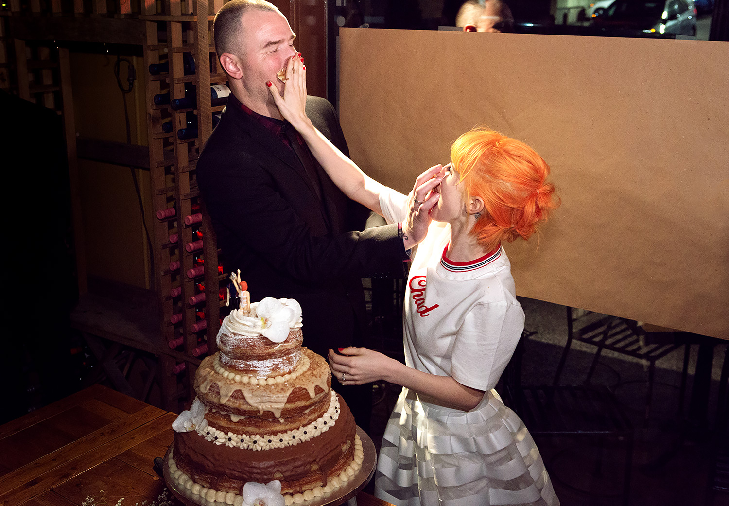 Chad Gilbert and Hayley Williams' wedding cake