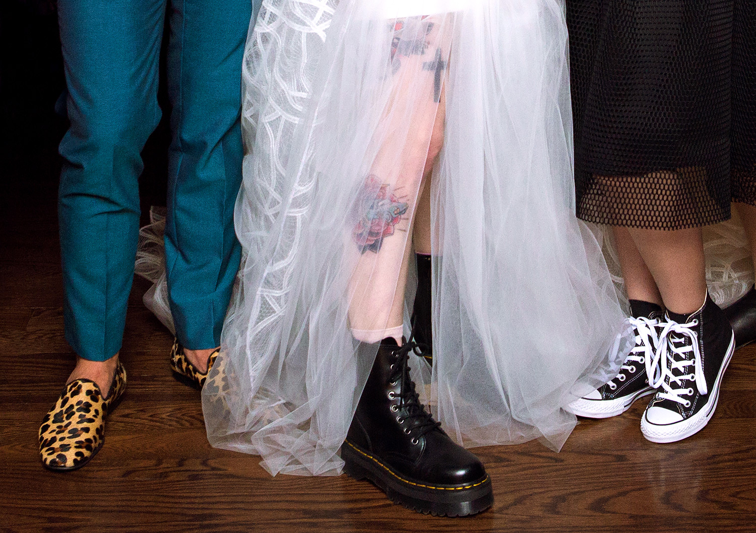 Hayley Williams' wedding boots