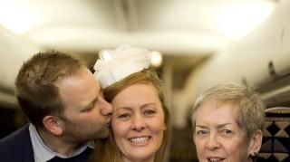 Kristy and Jim Airplane wedding