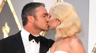 Lady Gaga and fiance Taylor Kinney at Oscars 2016