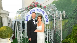 Leah and Travis Foster marry at A Little White Wedding Chapel on The Bachelor