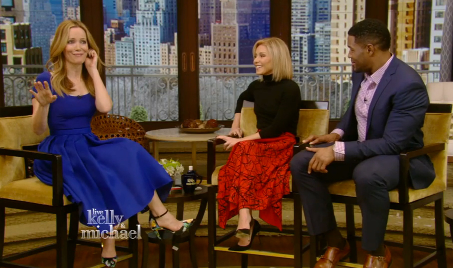 Leslie Mann on Live With Kelly and Michael