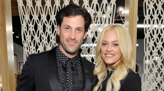 Maksim Chmerkovskiy and Peta Murgatroyd had a masquerade-themed engagement party at Diamond Horseshoe in NYC. Credit:  John Sciulli/Getty Images for Caruso Affiliated