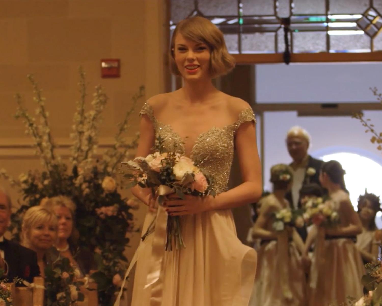 Taylor Swift Walking Down Wedding Aisle