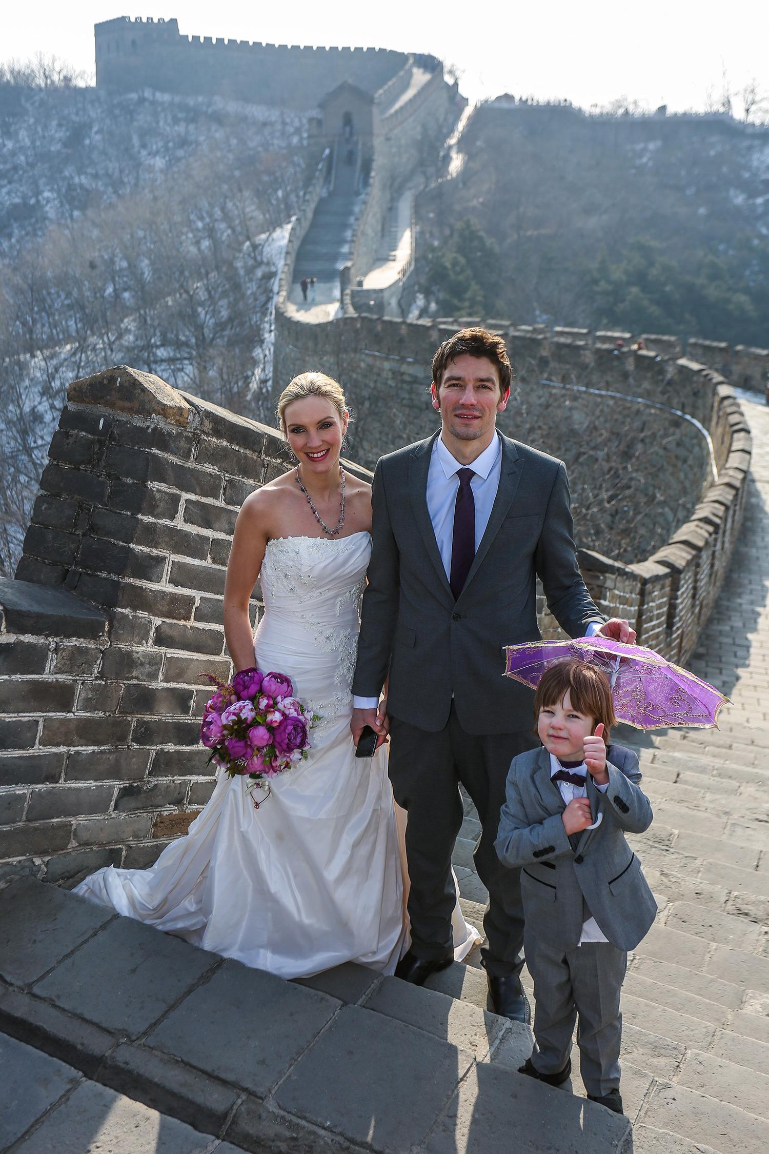 Amelia and Brett's Great Wall of China wedding
