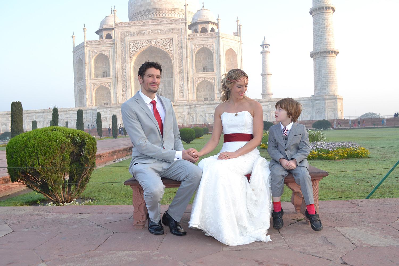 Amelia and Brett's India wedding