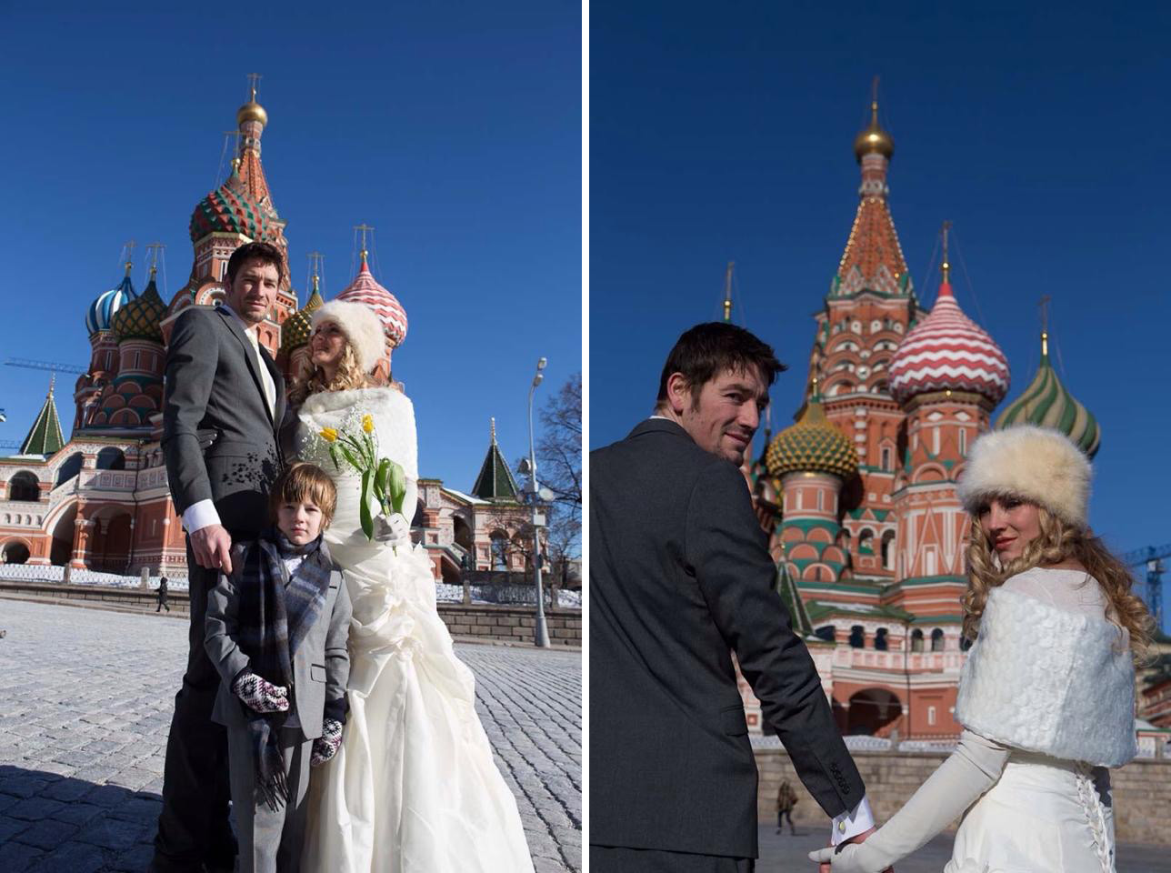 Amelia and Brett's Moscow wedding
