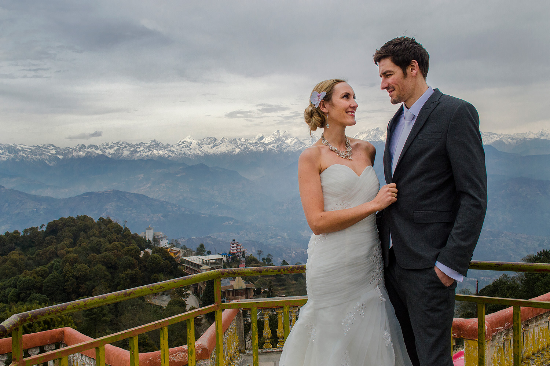 Amelia and Brett's Nepal wedding