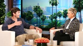 Ashton Kutcher and Ellen DeGeners