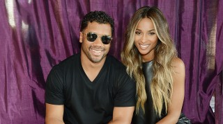 Ciara and fiance Russell Wilson