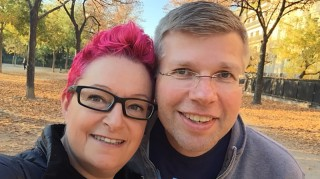 Sue Black and fiance Paul's encrypted proposal