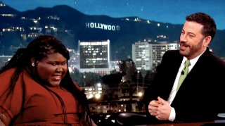 Gabourey Sidibe and Jimmy Kimmel wedding