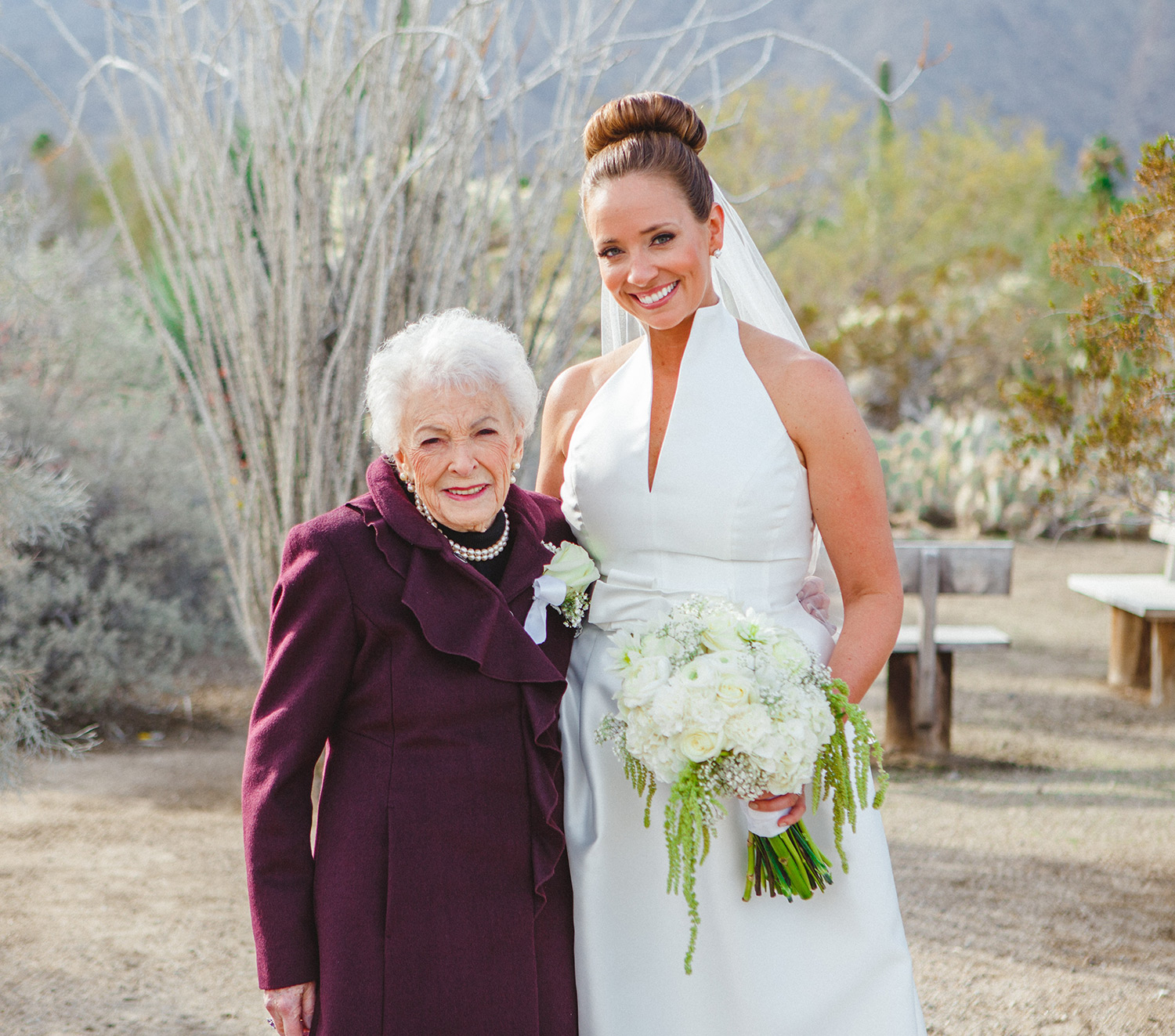 Flower girl grandma steals spotlight at granddaughter 39 s for Grandmother dresses for grandson s wedding