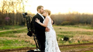 Paralyzed groom Kent and bride Misti