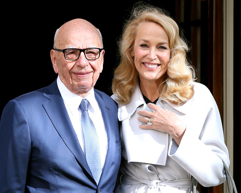 Rupert Murdoch and Jerry Hall married