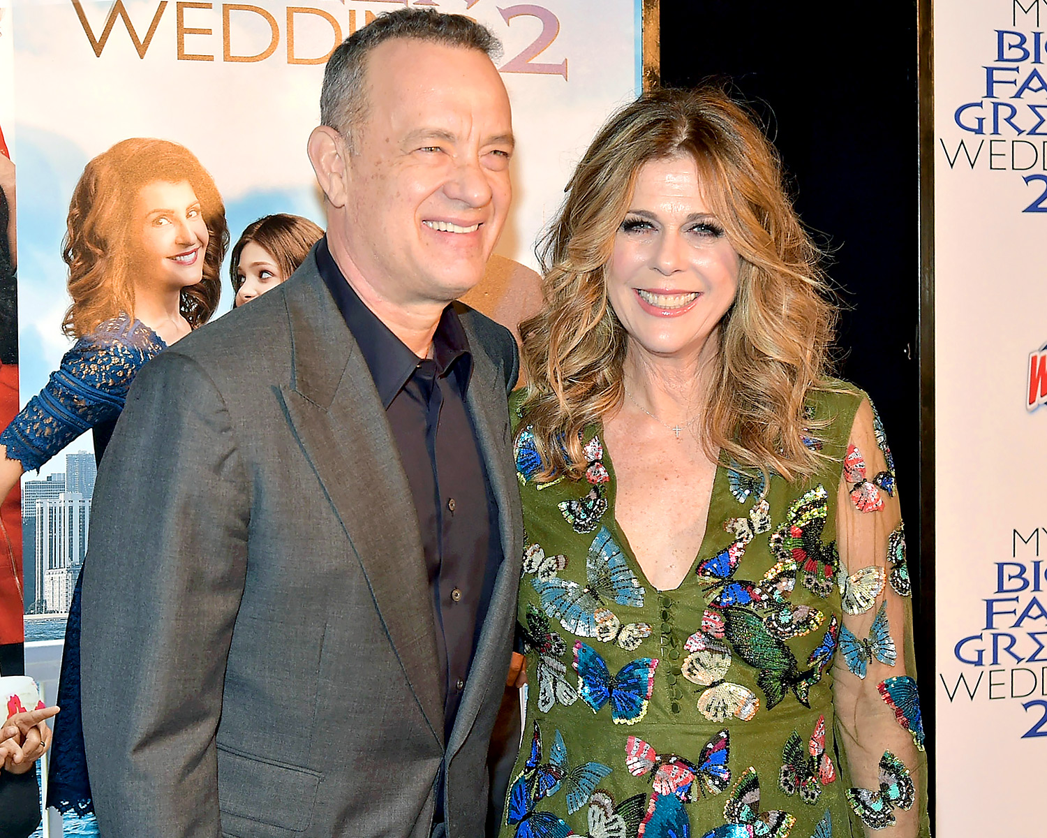 Producers Tom Hanks Rita Wilson At My Fat Greek Wedding 2 Premiere First Film Was Crazy Good Fortune