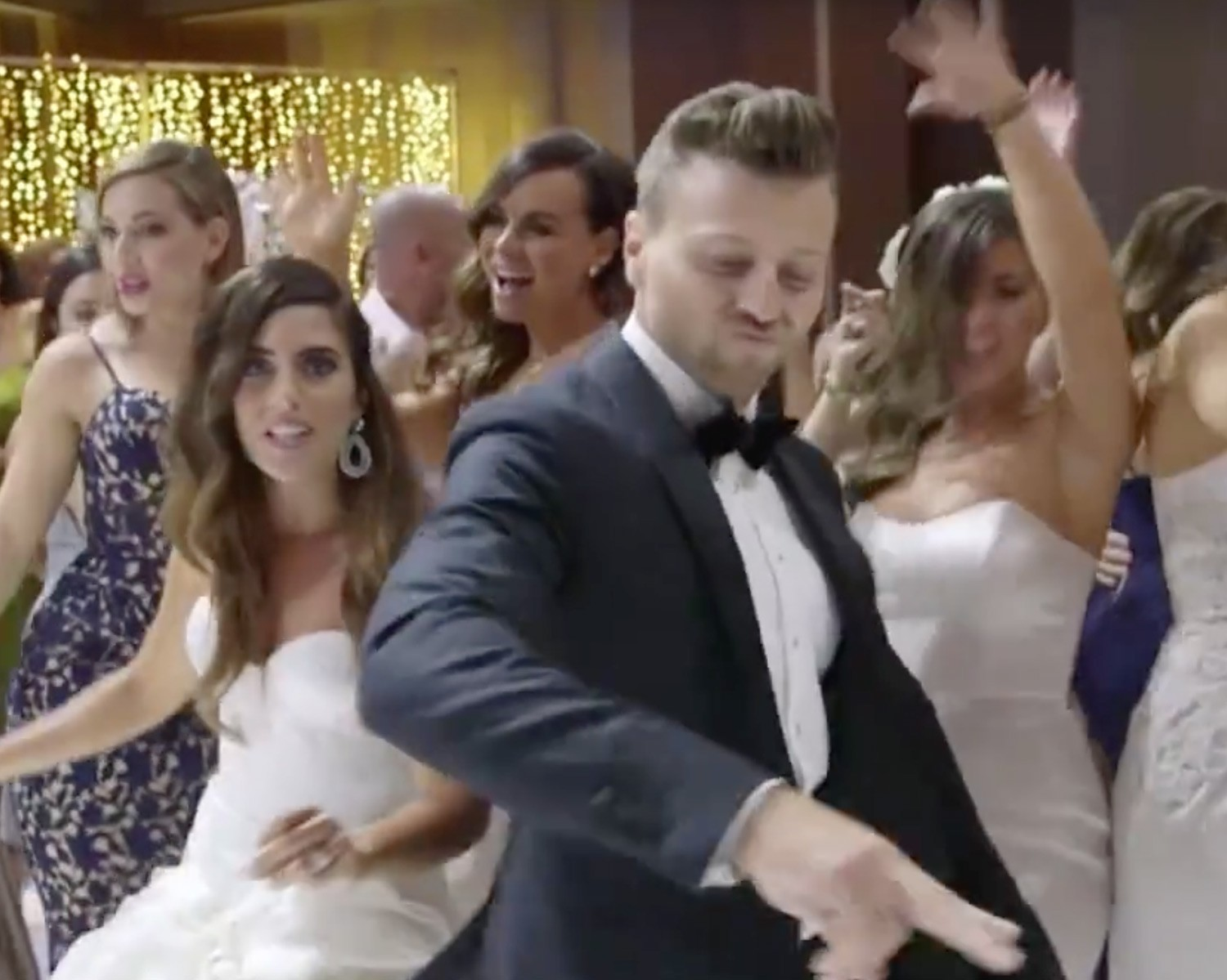 Bride and Groom's wedding music video by Dancing With the Stars