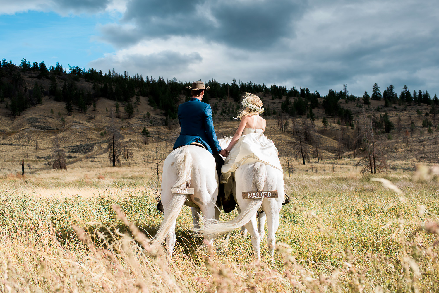 Horses Gallop Behind Bride And Groom In Viral Wedding Photo