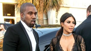 Kanye West and Kim Kardashian attending David Grutman's wedding