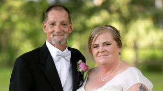 Rocky and Evelyn homeless wedding
