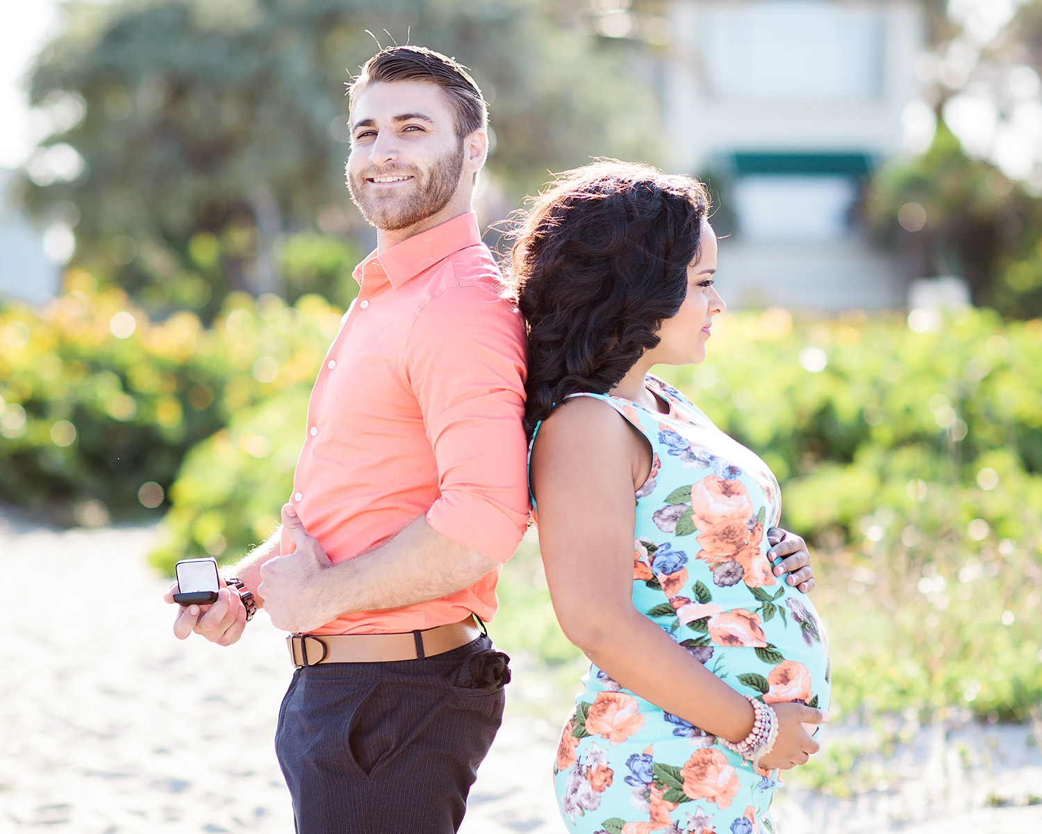 Beachside Maternity Photos Turns Into Surprise Proposal