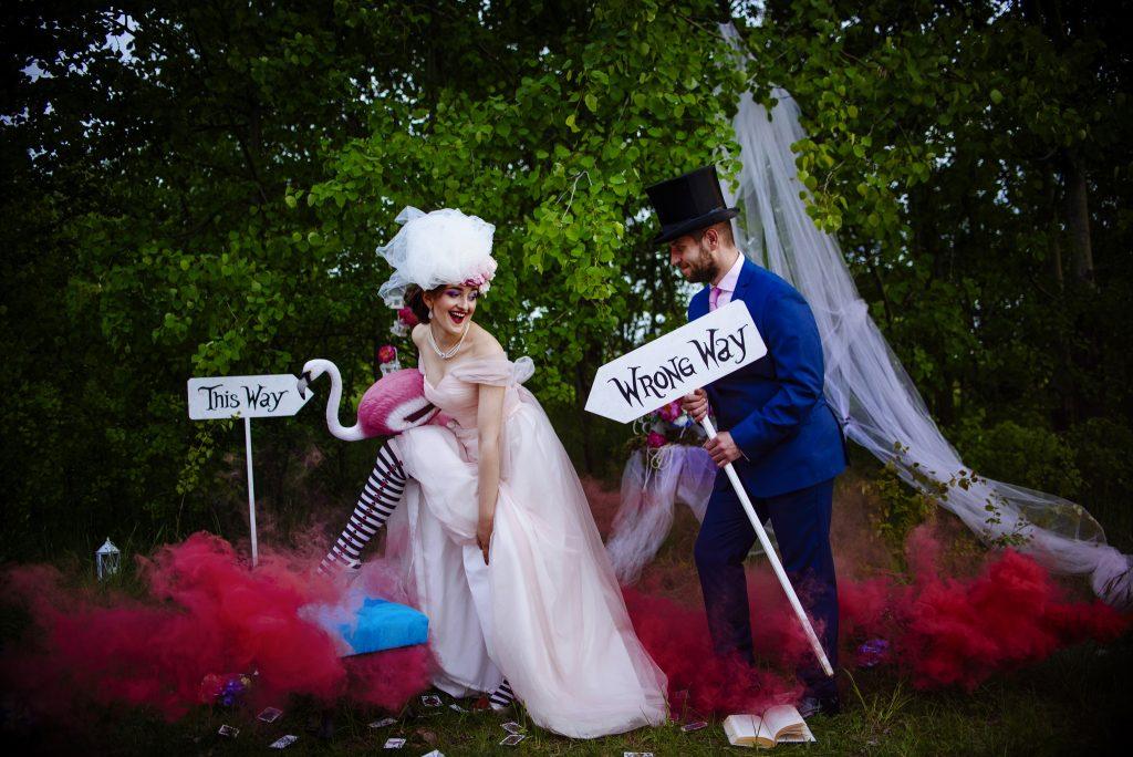 Alice in Wonderland Wedding Photos: \