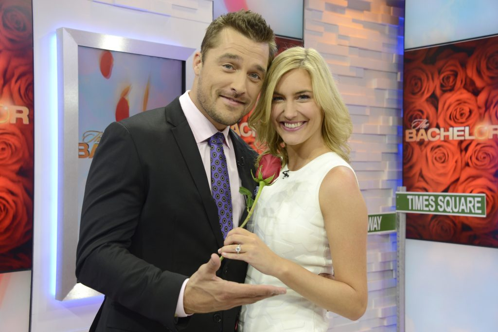 "GOOD MORNING AMERICA - Chris Soules and Whitney Bischoff of ABC's ""The Bachelor"" are guests on ""Good Morning America,"" 3/10/15, airing on the ABC Television Network. (ABC/Ida Mae Astute) CHRIS SOULES, WHITNEY BISCHOFF"