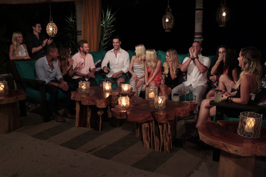 """BACHELOR IN PARADISE - """"Episode 301"""" - Looking for a second chance at love on the season premiere of the highly anticipated """"Bachelor in Paradise,"""" beginning TUESDAY, AUGUST 2 (8:00-10:00 p.m., EDT) on the ABC Television Network, the cast arrive one by one to their own private paradise in the gorgeous town of Sayulita, located in Vallarta-Nayarit, Mexico. The cast comprised of former fan favorites and controversial characters from """"The Bachelor"""" franchise live together along the shores of Paradise beach, share exotic dates, and explore new romances, all for another chance to find love. Each week, relationships will be put to the test as new contestants are introduced into the mix. At the end of each week, a rose ceremony will be held where uncoupled contestants will be cast out of Paradise! (ABC/Rick Rowell) SARAH HERRON, JARED HAIBON, GRANT KEMP, LACE MORRIS, NICK VIALL, DANIEL MAGUIRE, EMILY FERGUSON, HALEY FERGUSON, AMANDA STANTON, VINNY VENTIERA, ISABEL GOODKIND"""
