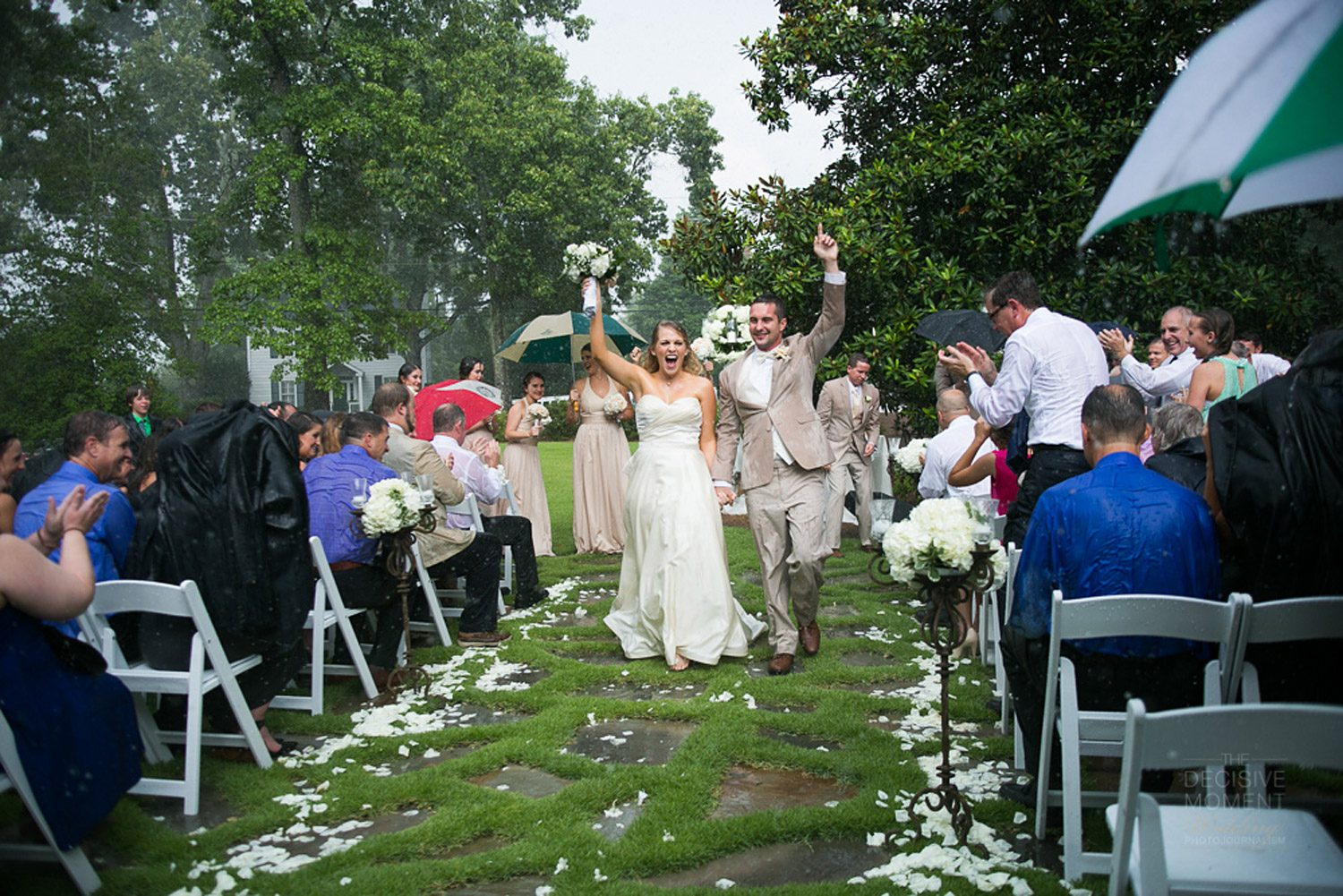 Bride Deliberately Gets Married Outdoors In The Rain