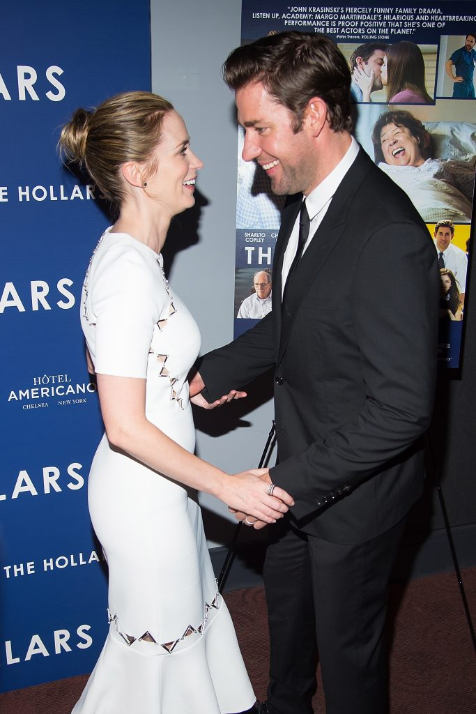 "NEW YORK, NY - AUGUST 18: Actors Emily Blunt (L) and John Krasinski attend ""The Hollars"" New York screening at Cinepolis Chelsea on August 18, 2016 in New York City. (Photo by Michael Stewart/FilmMagic)"