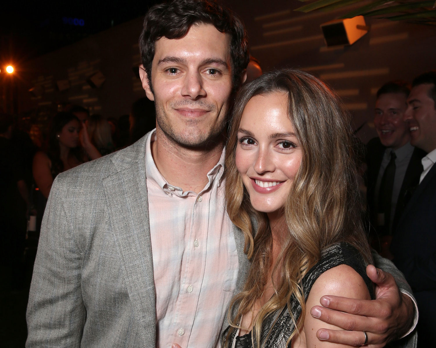 Leighton Meester Husband Adam Brody Make Adorable Appearance