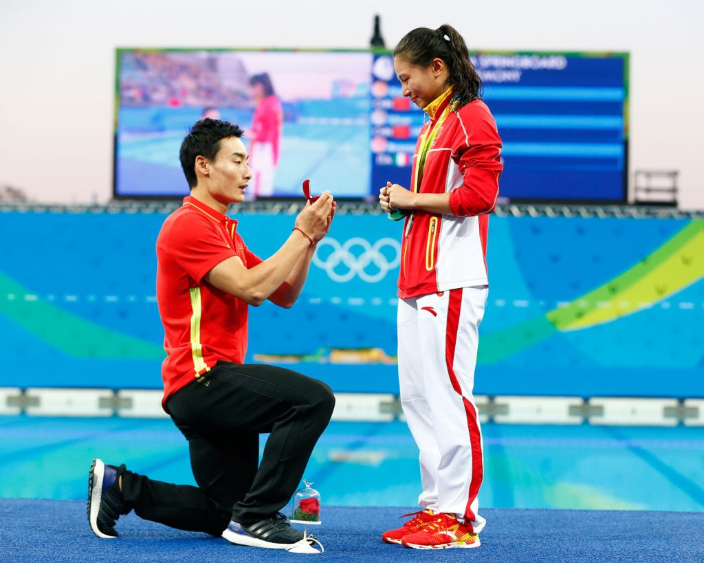 chinese diver proposal olympics