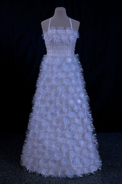 designer creates kcup couture wedding dress see it here