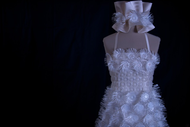 Designer Creates K-Cup Couture Wedding Dress: See It Here