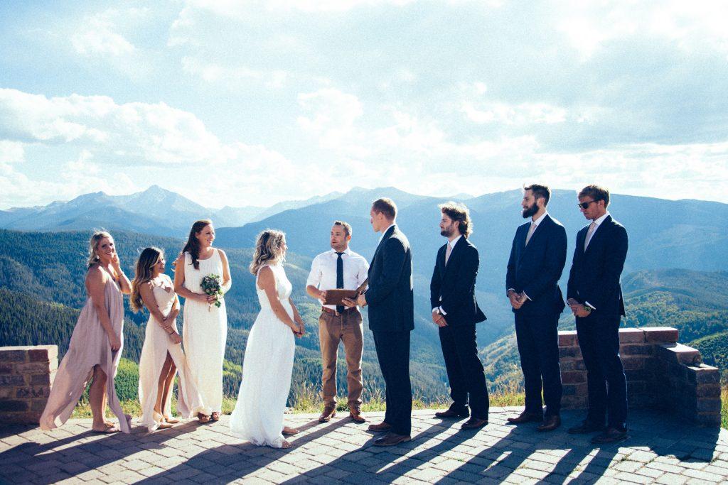 bride groom same day engagement wedding