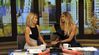 """Kelly Ripa and Ciara are pictured during the production of """"LIVE Kelly"""" in New York on Wednesday, October 19, 2016. Photo: Pawel Kaminski - Disney/ABC Home Entertainment and TV Distribution  ©2016 Disney ABC. All Rights Reserved."""