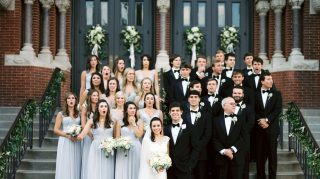 Bridal party reacts