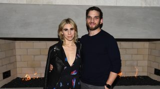KAMAS, UT - JANUARY 21:  Actors Zosia Mamet and Evan Jonigkeit attend An Artist at the Table: cocktails and dinner program benefit during 2016 Sundance Film Festival at the DeJoria Center on January 21, 2016 in Kamas, Utah.  (Photo by Nicholas Hunt/Getty Images for Sundance Film Festival)