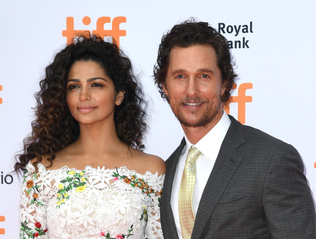 TORONTO, ON - SEPTEMBER 11: Matthew McConaughey and wife Camila Alves attend the premiere of 'Sing' during the 2016 Toronto International Film Festival at Princess of Wales Theatre on September 11, 2016 in Toronto, Canada. (Photo by C Flanigan/FilmMagic)