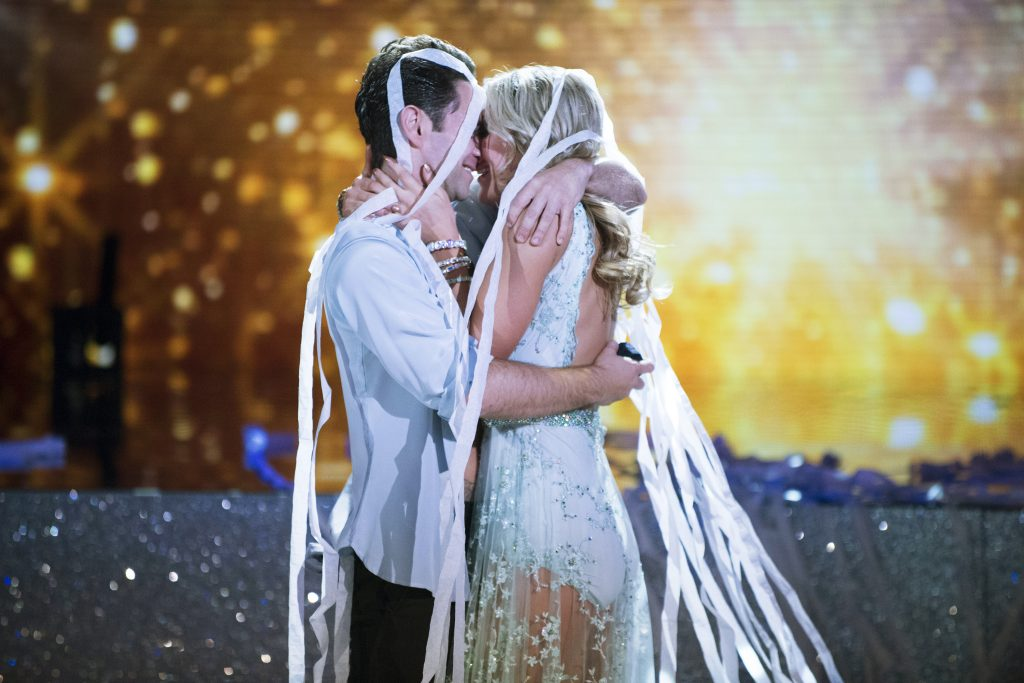 "DANCING WITH THE STARS - ""Episode 2304A"" - The third elimination of the season will take place on ""Dancing with the Stars: The Results,"" live, TUESDAY, OCTOBER 4 (8:00-9:00 p.m. EDT), on the ABC Television Network. (Eric McCandless/ABC via Getty Images) SASHA FARBER, EMMA SLATER"
