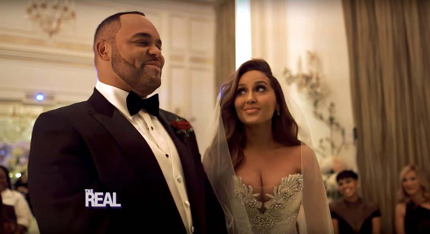 Adrienne Bailon And Israel Houghton Exchange Vows At The Altar