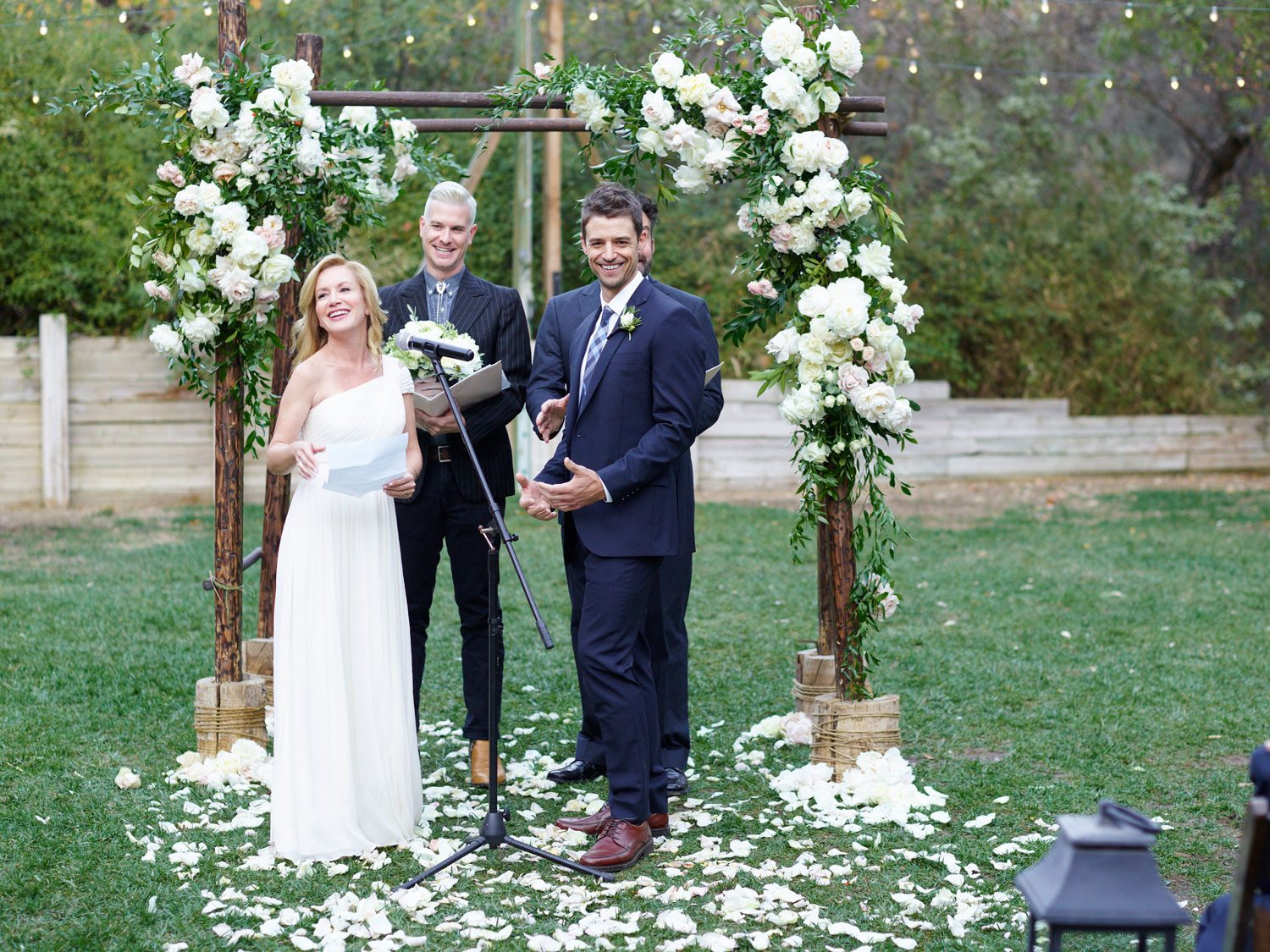 gay couple photo ideas - Angela Kinsey's Wedding Album Is Here See the First Kiss