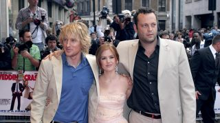 "Owen Wilson, Isla Fisher and Vince Vaughn during ""Wedding Crashers"" London Premiere at Odeon West End in London, Great Britain. (Photo by Goffredo di Crollalanza/FilmMagic)"
